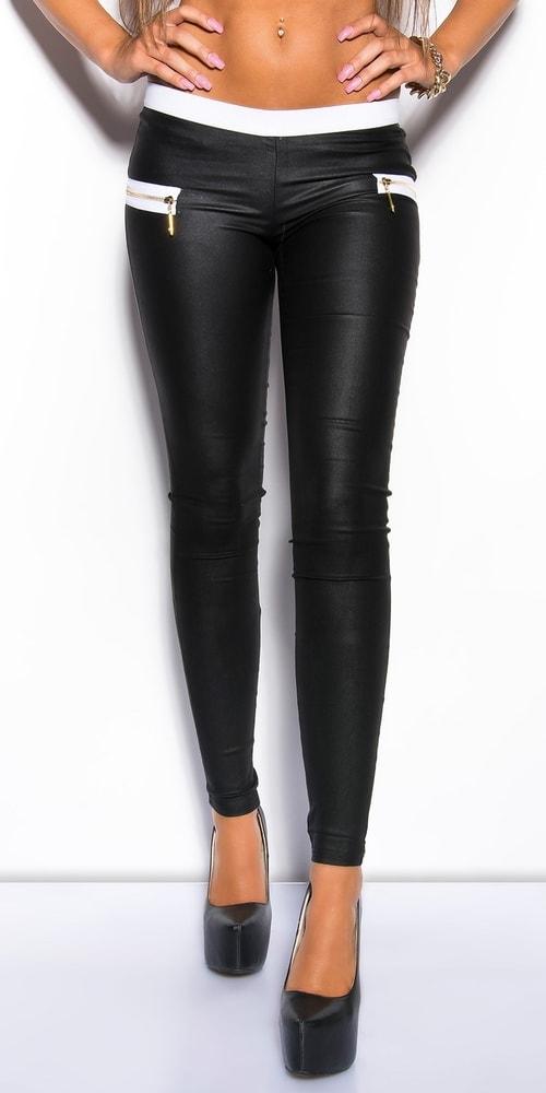 Čierne dámske nohavice - L Koucla in-ka1136bl