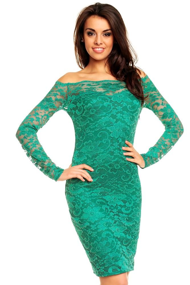 ba302469b3c Krajkové společenské šaty zelené - Mayaadi - Večerní šaty a ...