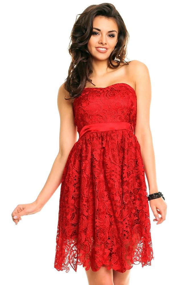 Červené krajkové koktejlky. Home ›  Dámske šaty ›  Plesové šaty ›  Krátke  ... 602bdd56b7