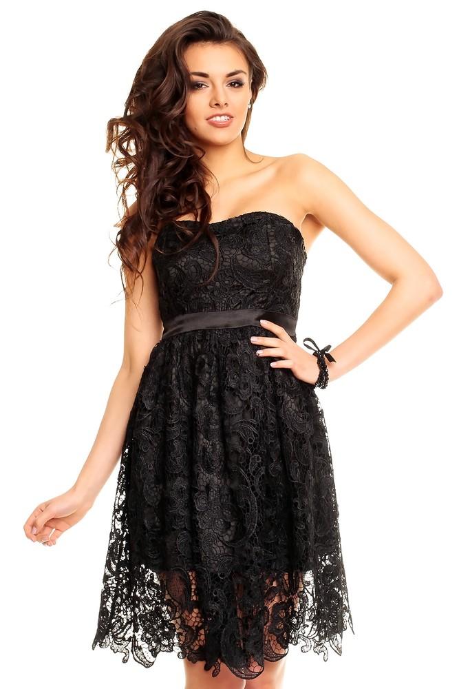 Elegantní krajkové šaty - Ethina - Krátke plesové šaty - vasa-moda.sk 25f9de07c7
