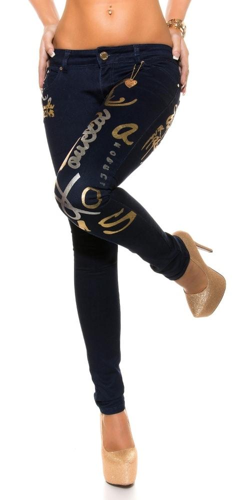 7372c07910a Dámské kalhoty se zlatým potiskem - Koucla - Dámské kalhoty - i ...