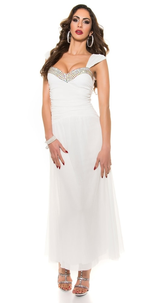 Dlhé večerné šaty - biele - Koucla - Dámske šaty - vasa-moda.sk 3f1a5b2fab2
