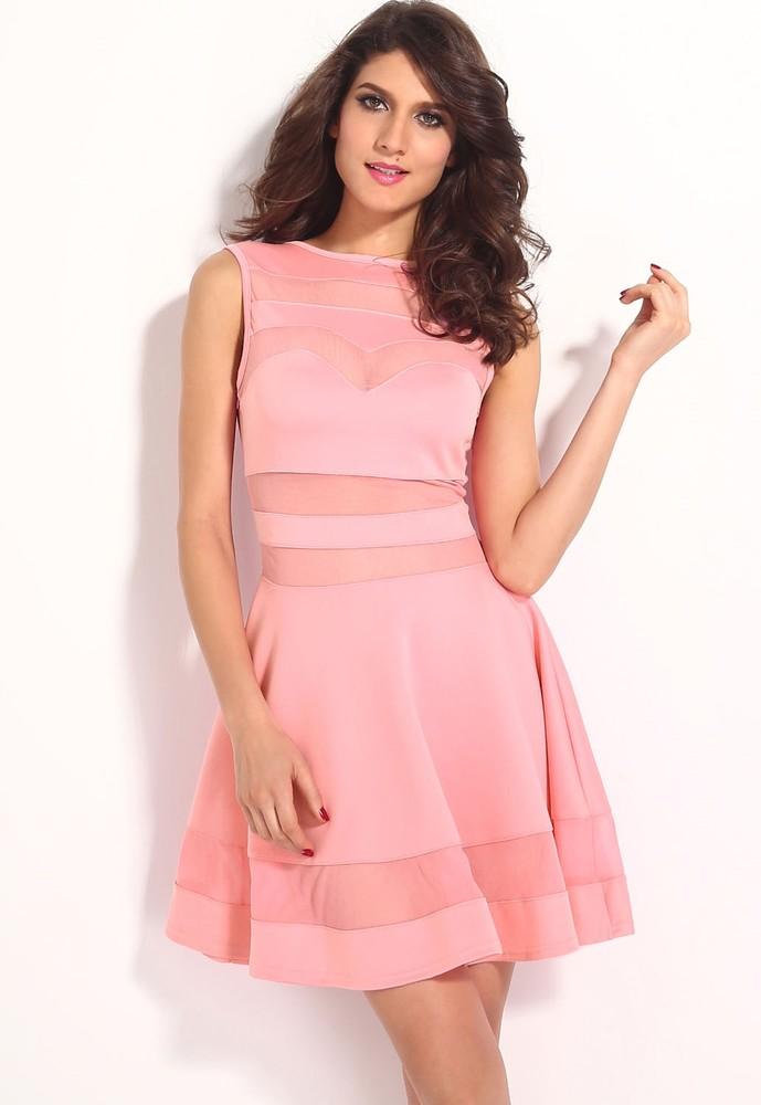 Růžové šaty do společnosti - DAMSON - Večerní šaty a koktejlové šaty ... 1b82274828
