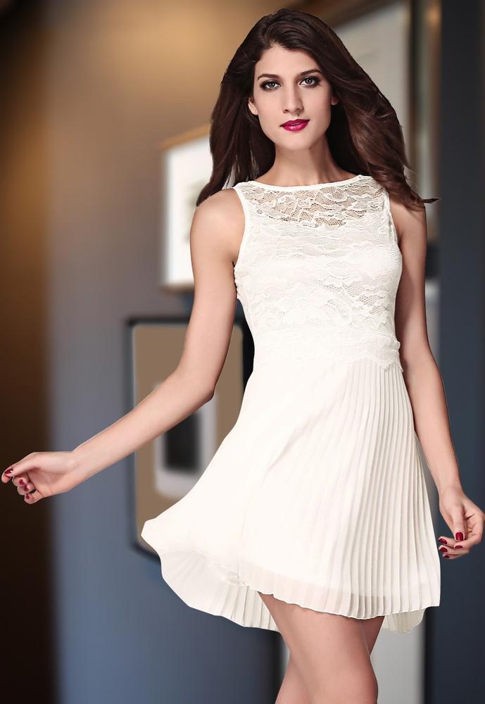 2eadfdfa934 Společenské bílé šaty - DAMSON - Večerní šaty a koktejlové šaty - i ...