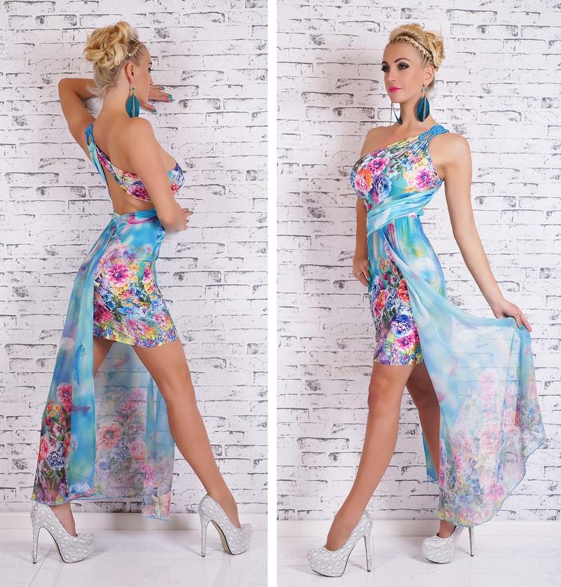 Dlouhé barevné letní šaty - EU - Večerní šaty a koktejlové šaty - i ... c06c594bf0