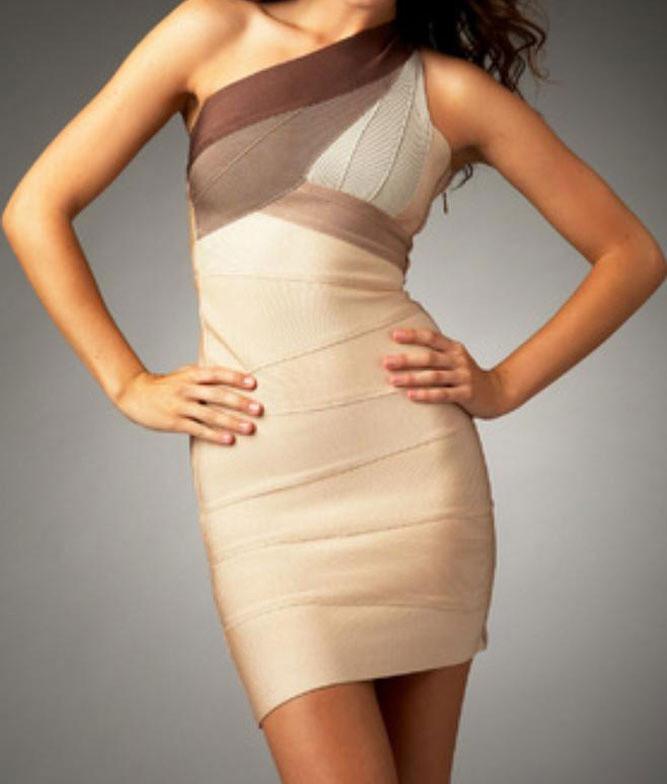 Bandage šaty na jedno rameno - DAMSON - Zeštíhlující šaty - i-moda.cz 4df0f06b7d