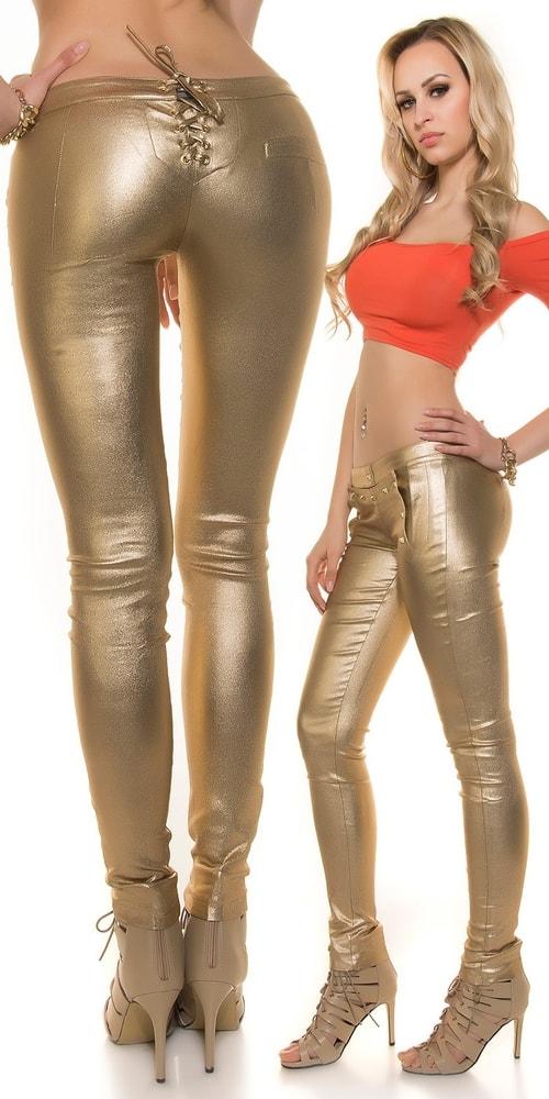 Zlaté dámske nohavice - Koucla - Dámske nohavice - vasa-moda.sk f5f7807713f