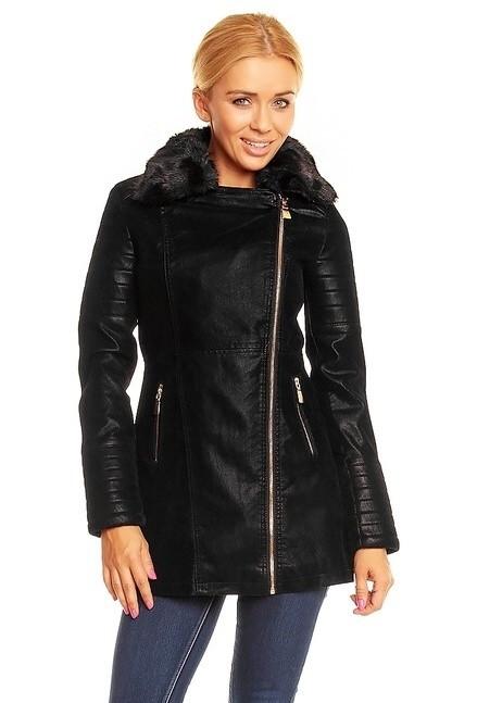 Dámská dlouhá bunda - Voyelles - Dámské kabáty podzimní - i-moda.cz a629837fccb