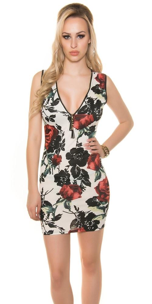 Dámske kvetované šaty - Koucla - Krátke letné šaty - vasa-moda.sk 13f6c912f88