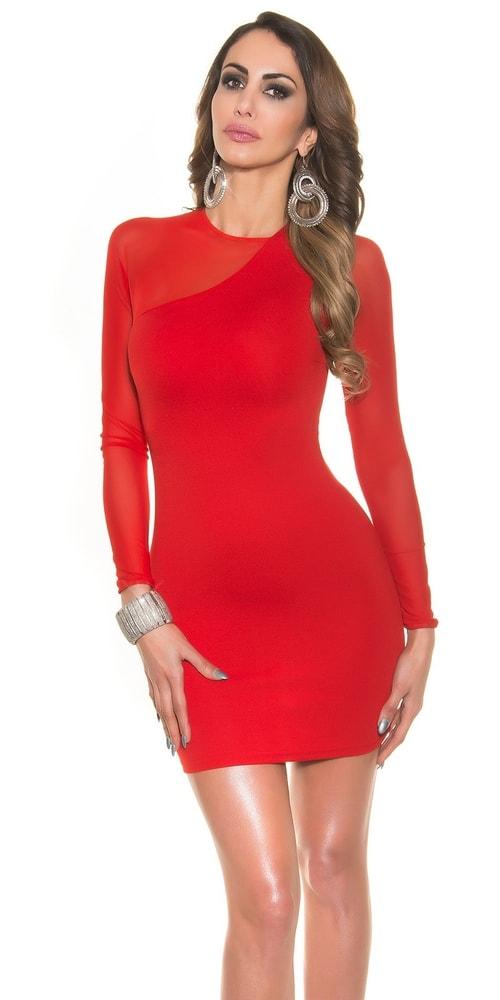 Dámske červené elegantné šaty - XL Koucla in-sat1131re