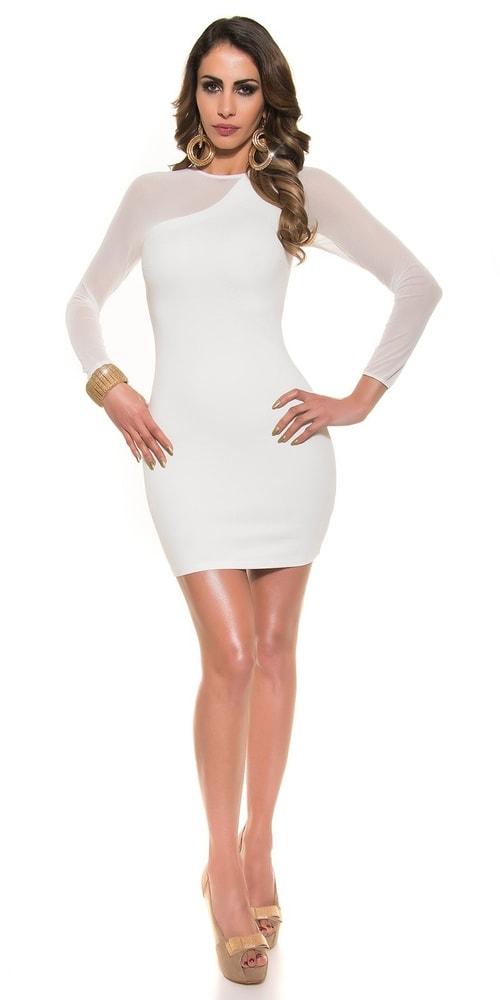 Biele dámske elegantné šaty - Koucla - Večerné šaty a koktejlové ... f9183ef6a00