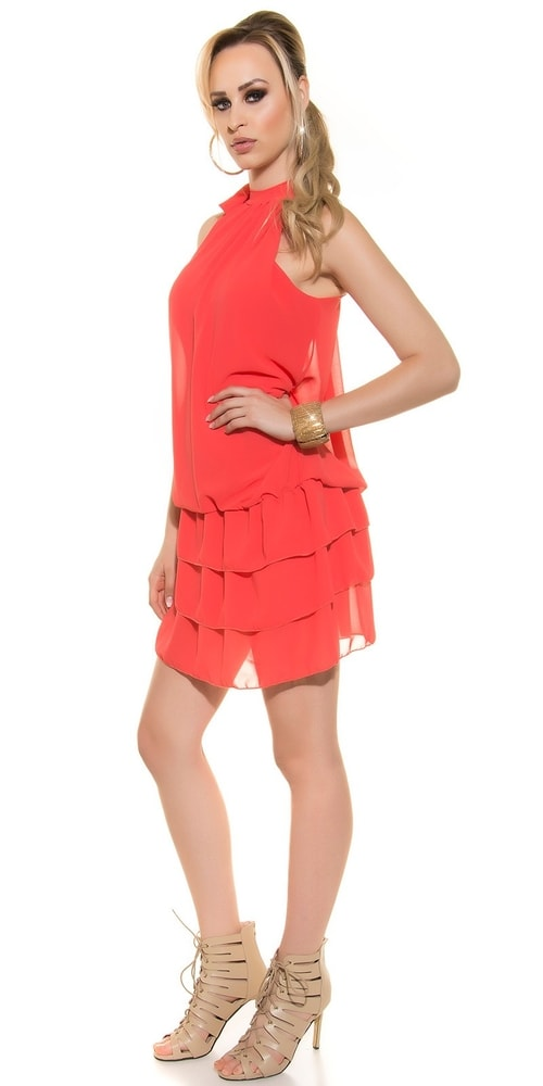 Šifonové dámské šaty s volány - Koucla - Večerní šaty a koktejlové ... b6d1a5e2825