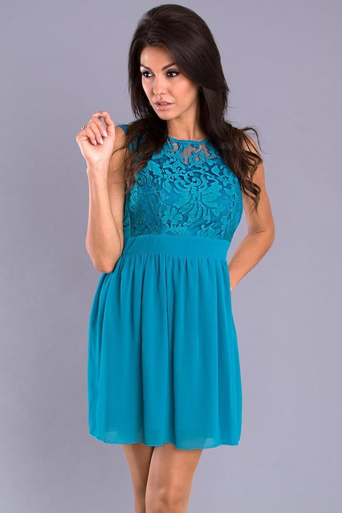 Společenské šaty modré - Emamoda - Krátké plesové šaty - i-moda.cz 8c6d9f370c