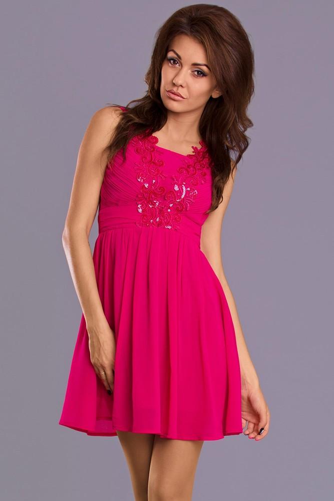 Dívčí společenské šaty - Emamoda - Krátké plesové šaty - i-moda.cz 66dc9824bb