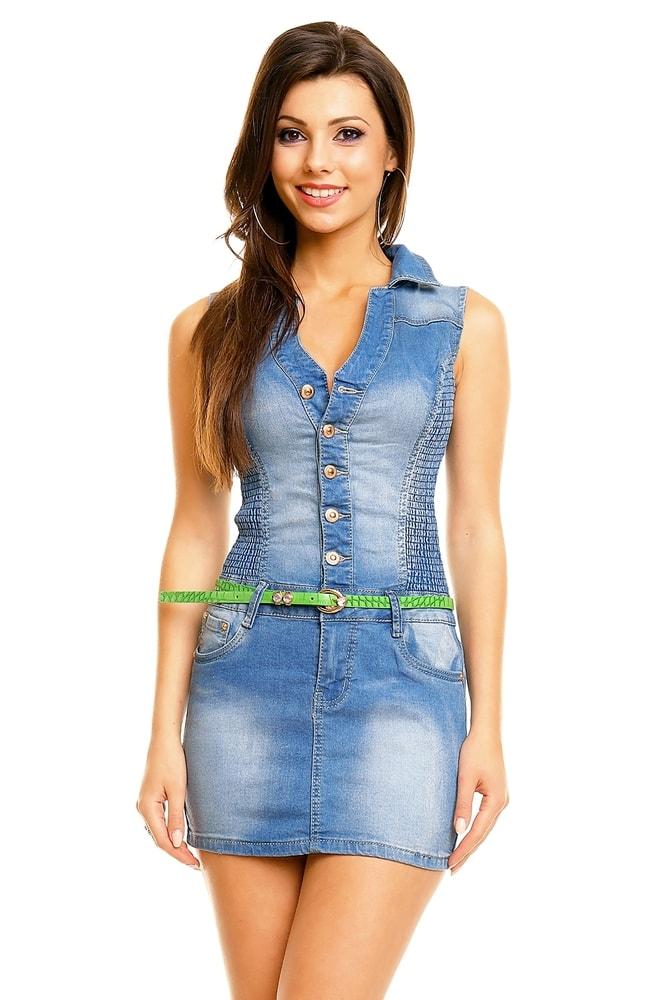 Džínsové šaty - EU - Krátke letné šaty - vasa-moda.sk 49b2de8a310