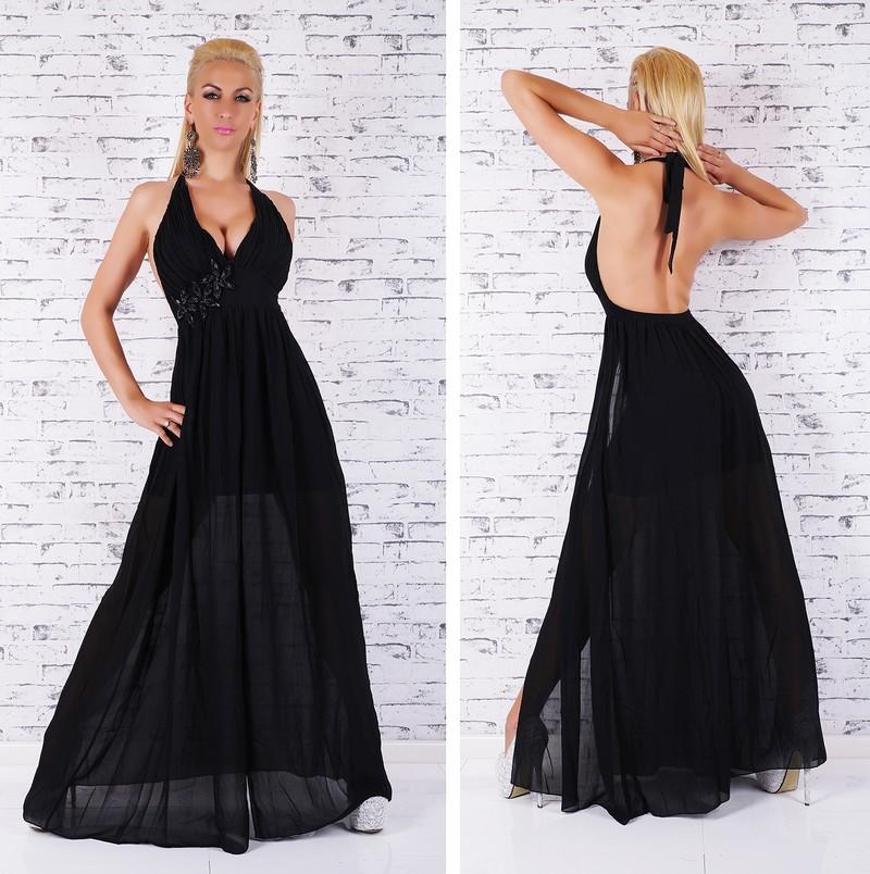 Dlouhé plesové šaty černé - EU - Večerní šaty a koktejlové šaty - i ... f9eaa73581