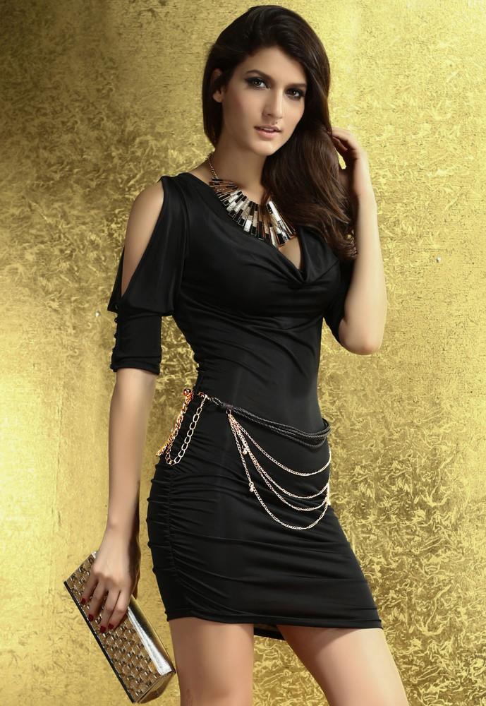 Dámské módní šaty černé - DAMSON - Večerní šaty a koktejlové šaty ... d7cf748661