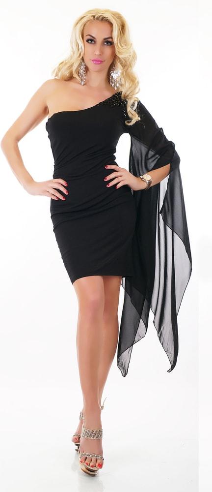 Černé plesové šaty - EU - Večerní šaty a koktejlové šaty - i-moda.cz 4be591dc86