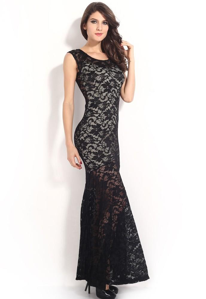 0baf7ec3133 Dlhé krajkové šaty - DAMSON - Večerné šaty a koktejlové šaty - vasa ...