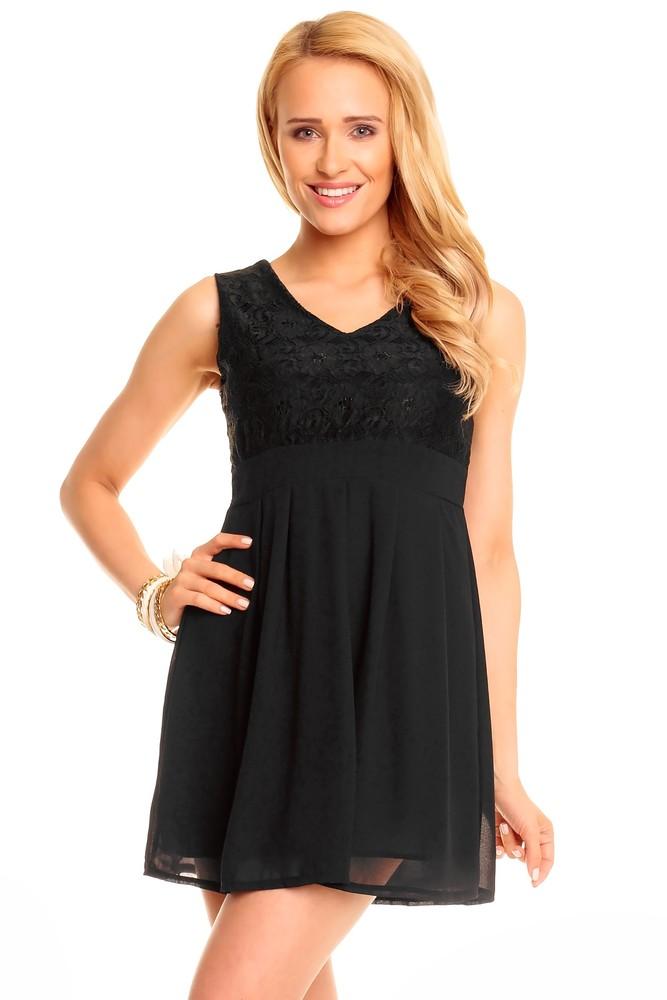 Večerní dámské šaty černé - Ethina - Krátke plesové šaty - vasa-moda.sk fdcfa11b3c