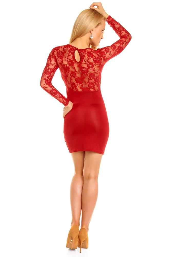 Krajkové červené šaty - EU - Večerné šaty a koktejlové šaty - vasa ... a5b7184495