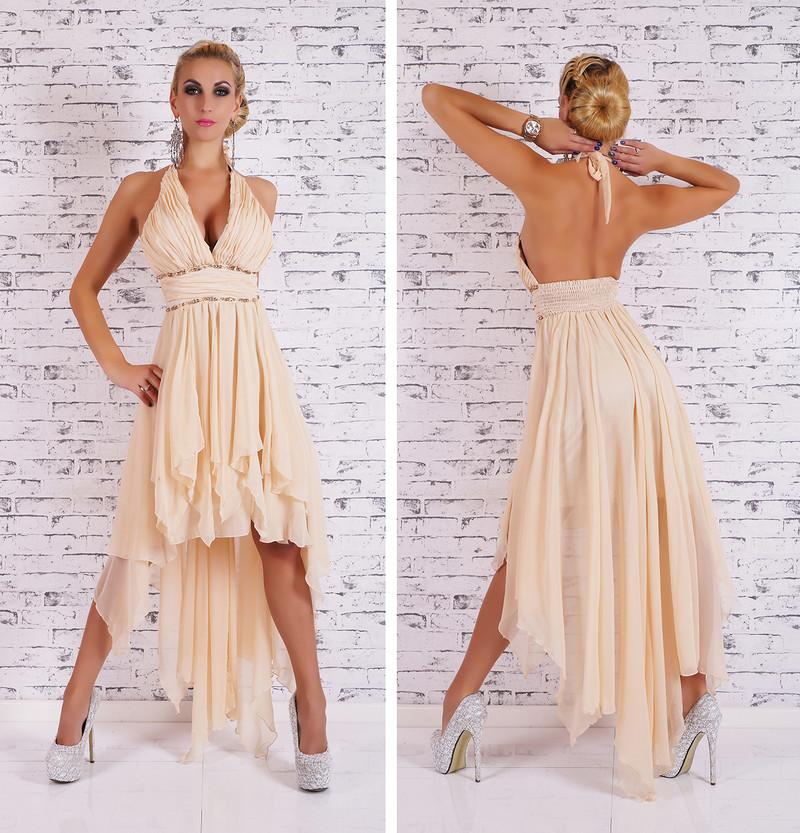 Dlouhé plesové šaty -béžové - EU - Večerné šaty a koktejlové šaty ... 95a6f7c7498