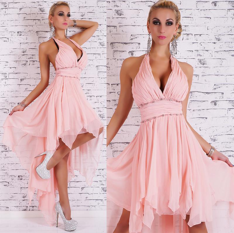 Dlouhé plesové šaty růžové - EU - Večerné šaty a koktejlové šaty ... 211072f103b