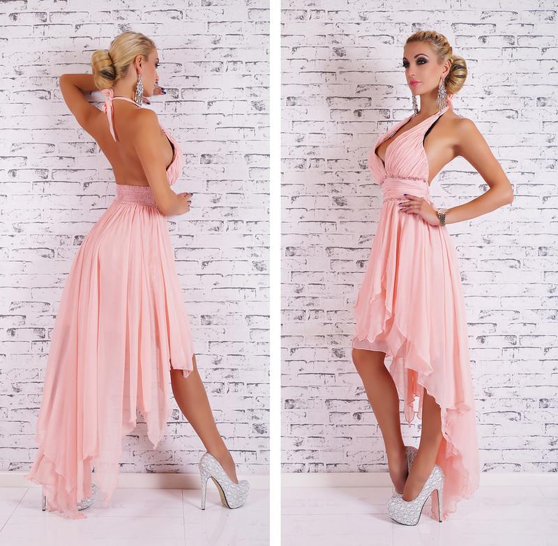 Dlouhé plesové šaty růžové - EU - Večerní šaty a koktejlové šaty - i ... 454ec456af