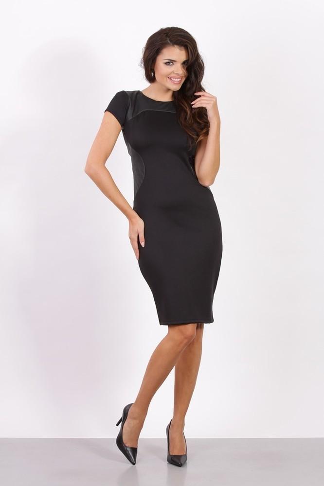 Dámské business šaty černé - Fashion H. - Večerní šaty a koktejlové ... d8f2583a942