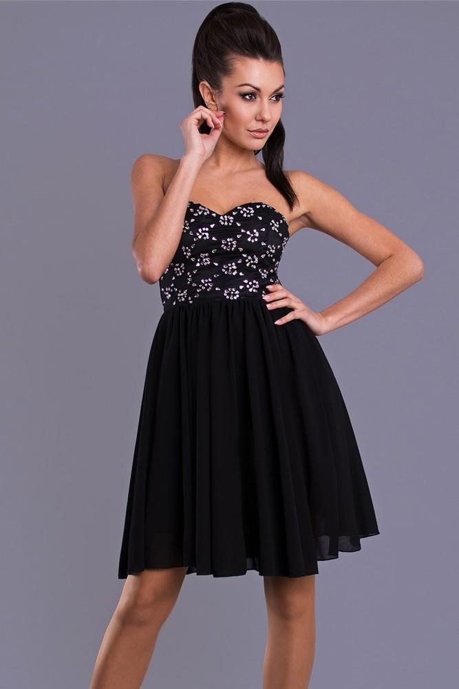 Krátké plesové šaty černé - Emamoda - Krátke plesové šaty - vasa ... c39d18f8e2d