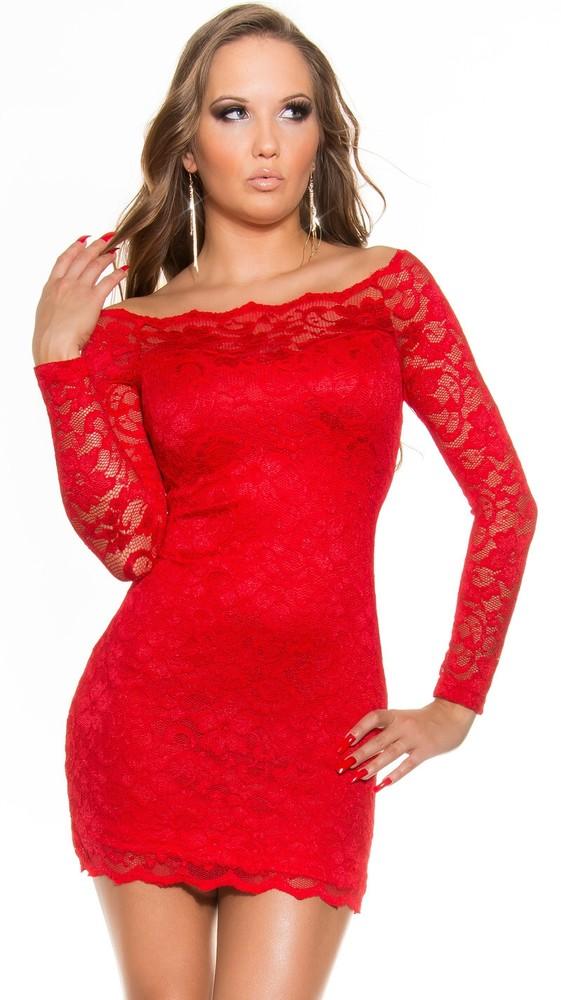 Večerné krajkové šaty - červené - Koucla - Večerné šaty a koktejlové ... d572f07d19