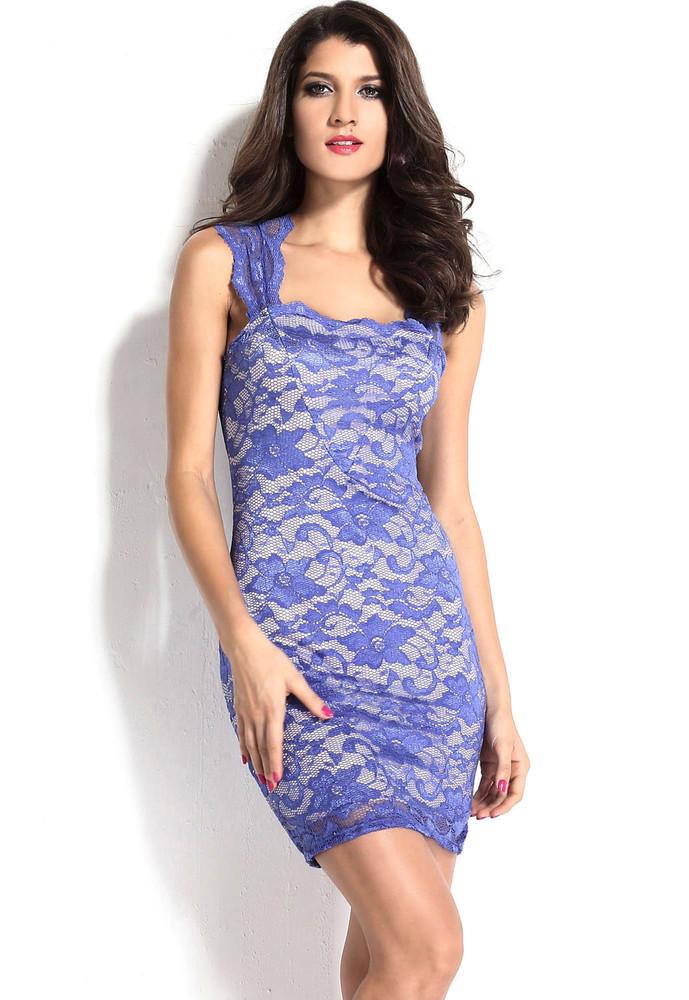 e1d7f27dbbb Krajkové šaty modré - DAMSON - Večerné šaty a koktejlové šaty ...
