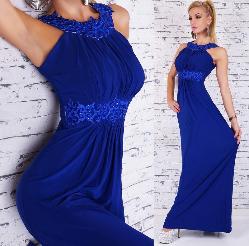 Elegantní plesové šaty - modré - EU - Dlhé plesové šaty - vasa-moda.sk 6f36e4c64a