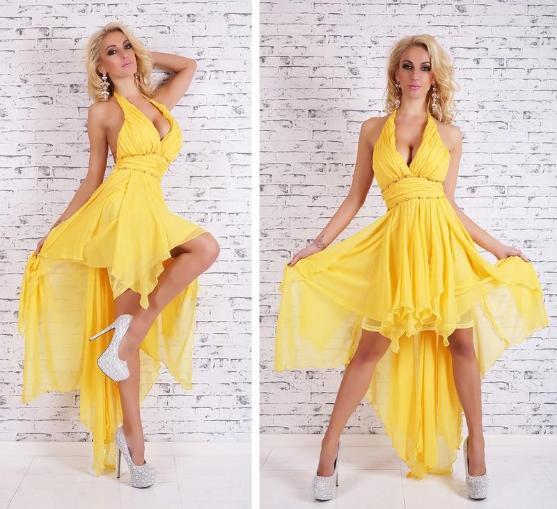 Žluté večerní šaty - EU - Večerní šaty a koktejlové šaty - i-moda.cz 4610e2986d