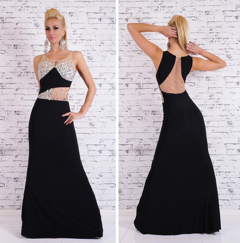 Glamour plesové šaty - černé - EU - Večerní šaty a koktejlové šaty ... 6db643e3e5