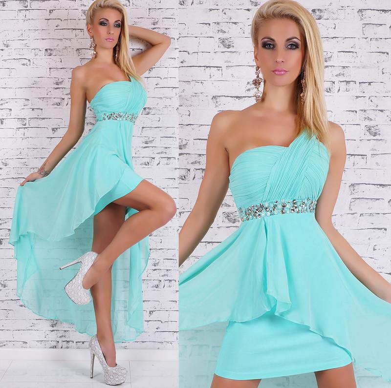 Dámske spoločenské šaty - modré - EU - Krátke plesové šaty - vasa ... 152614a17c