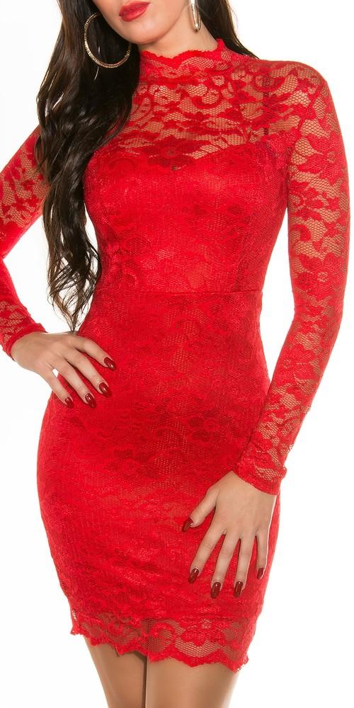 54fcf9b118e1 Společenské šaty - červené - Koucla - Večerné šaty a koktejlové šaty ...