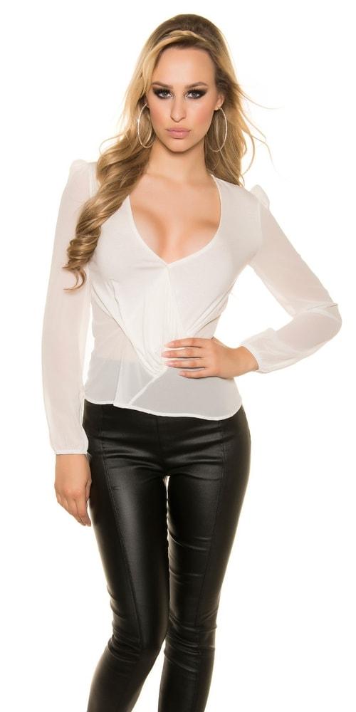 Elegantná dámska blúzka - XL Koucla in-ha1065wh