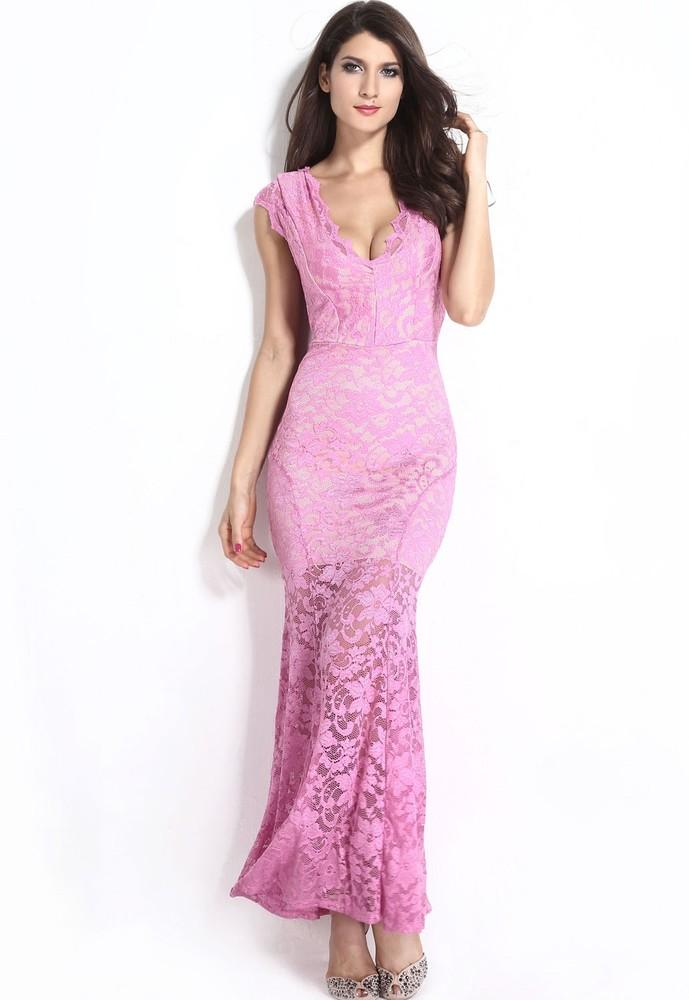 728fbd87778 Dlouhé krajkové sexy šaty - DAMSON - Večerní šaty a koktejlové šaty ...