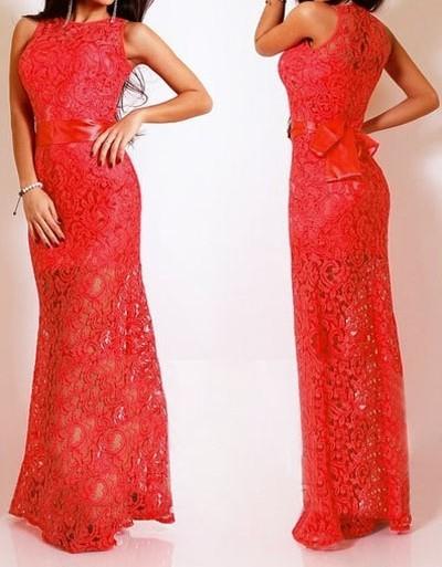 Červené krajkové šaty dlhé - DAMSON - Večerné šaty a koktejlové šaty ... cd54ba2b9fb