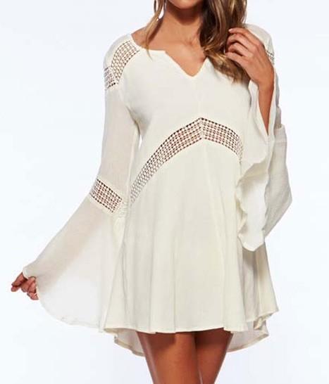 Bílá plážová tunika - DAMSON - Krátké letní šaty - i-moda.cz 11c3e556cd