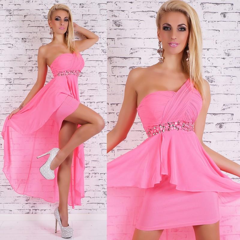 784bb32e931 Růžové plesové šaty - EU - Krátké plesové šaty - i-moda.cz