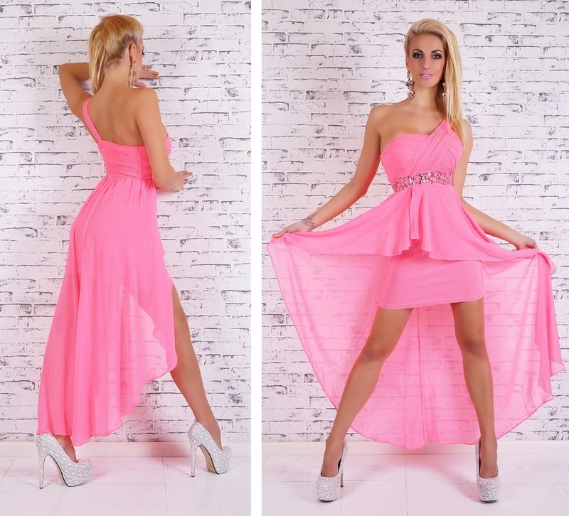 18421888a4c Růžové plesové šaty - EU - Krátké plesové šaty - i-moda.cz
