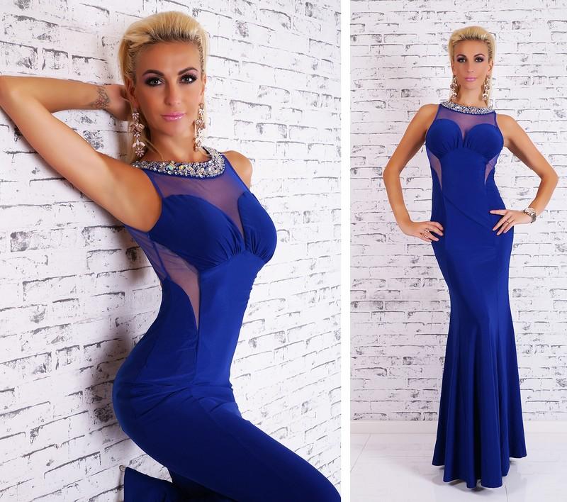 Dámské večerní šaty modré - EU - Večerné šaty a koktejlové šaty ... ed19f072f1