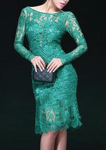 Krajkové zelené dámské šaty - DAMSON - Večerné šaty a koktejlové ... d7b099dc99