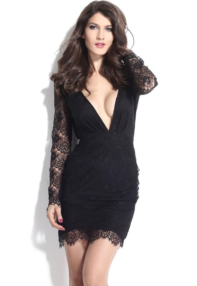 Černé krajkové minišaty - DAMSON - Večerní šaty a koktejlové šaty - i ... dfcc0614b7