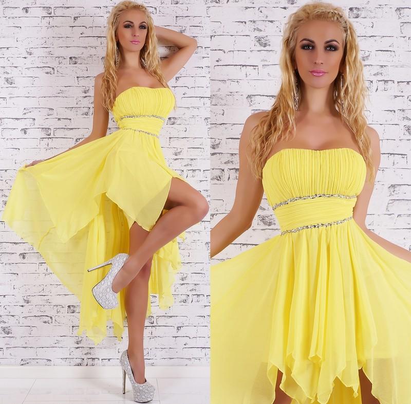 Žluté plesové šaty - EU - Večerní šaty a koktejlové šaty - i-moda.cz 1d1b1764c0
