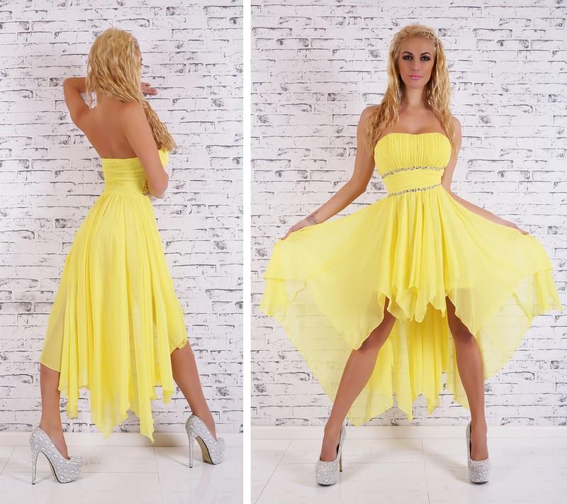 Žluté plesové šaty - EU - Večerní šaty a koktejlové šaty - i-moda.cz 926fe7e19b