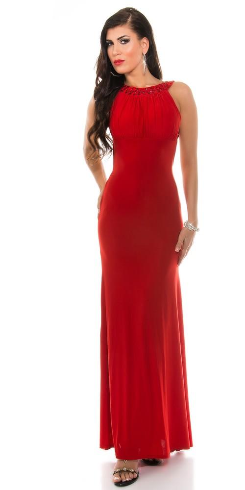 3481e6c219e Červené plesové šaty - Koucla - Dlouhé společenské šaty - i-moda.cz