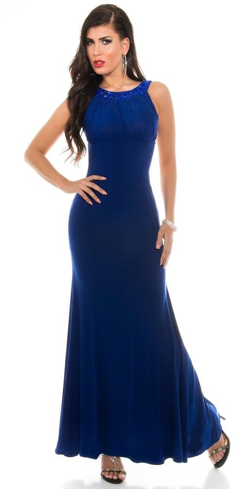 Dlouhé šaty dámské - modré - Koucla - Dlouhé společenské šaty - i ... a52d4fccb5d